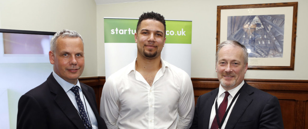 Start Up Loans ambassador David ONeal meeting Start Up Loans CEO Tim Sawyer and his local MP at Westminster