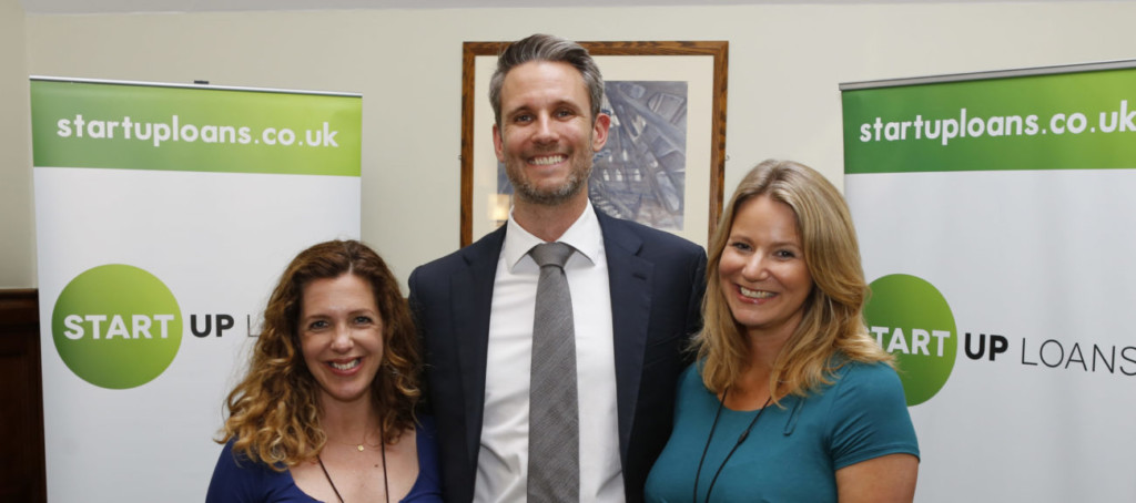 Lucy Woodhouse and Meriel Kehoe, founders of Claudi and Fin, at Westminster with their business advisor James Pattison