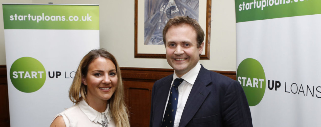 Start Up Loans ambassador Amy Barker at Westminster