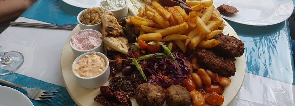 food at Meze Greek Restaurant in Ellesmere