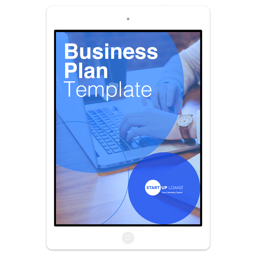 The Business Plan template on iPad screen