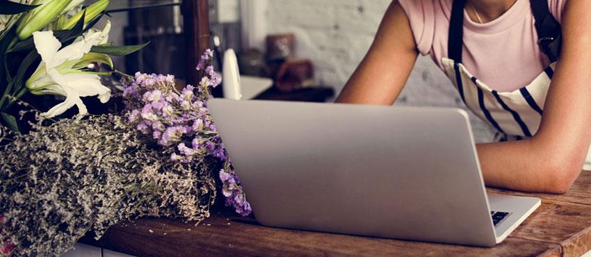 Self employed, laptop, work