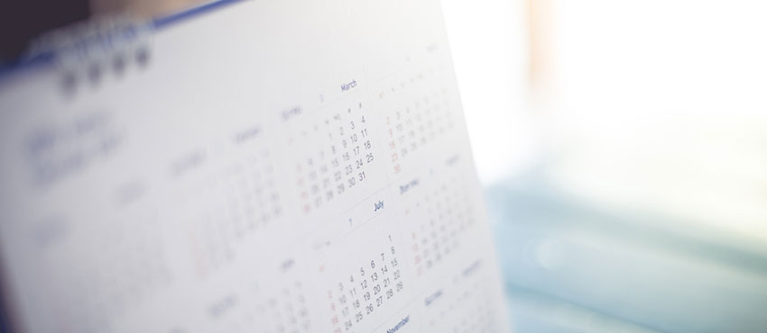 Tax on account, calendar