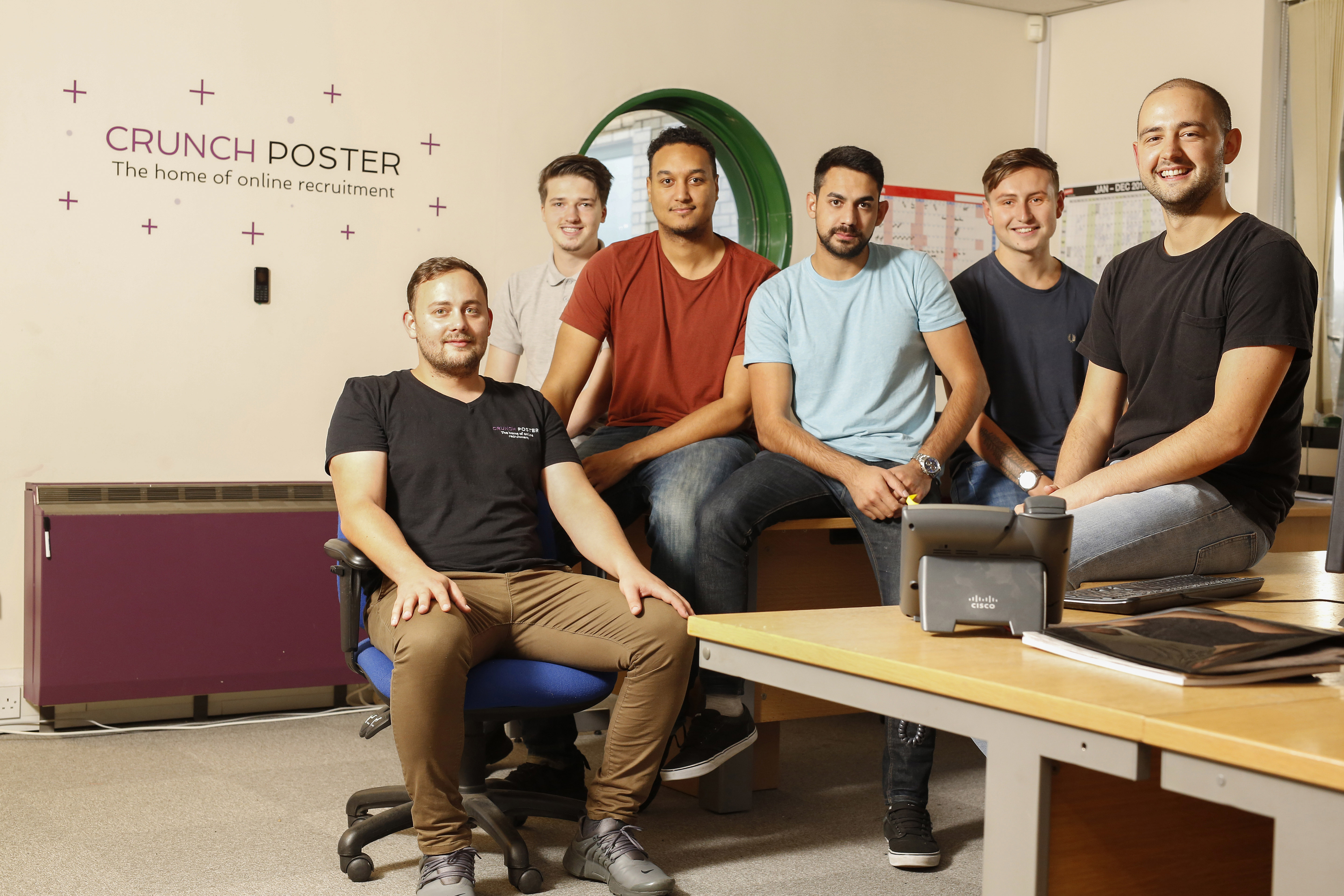 The Crunch Poster team in their offices