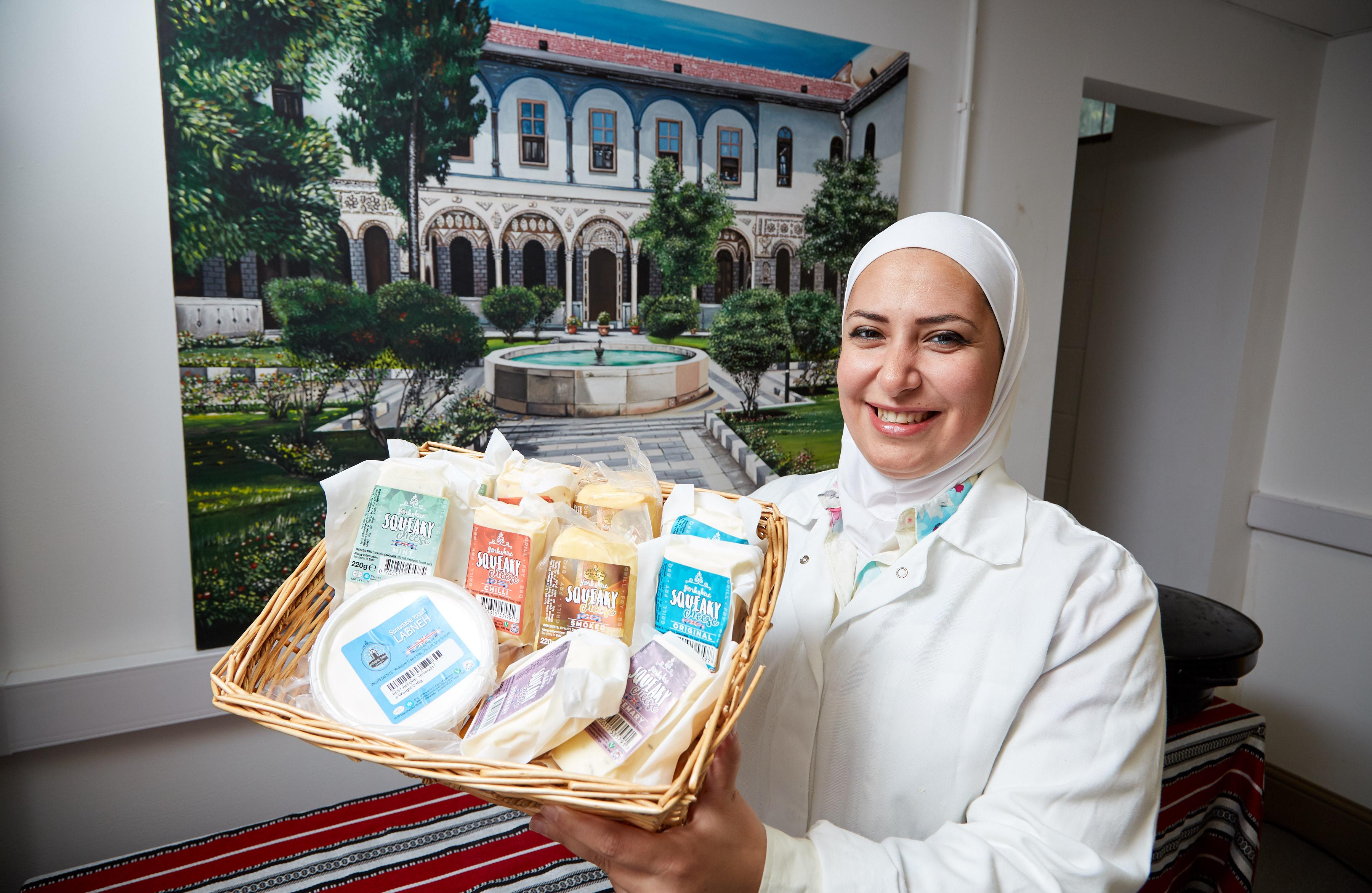 Image of Yorkshire Dama Cheese founder, Razan Alsous
