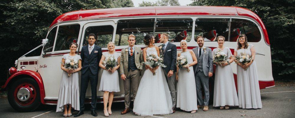A wedding party photo