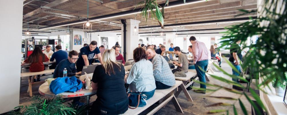 An Open plan working environment at Launch22