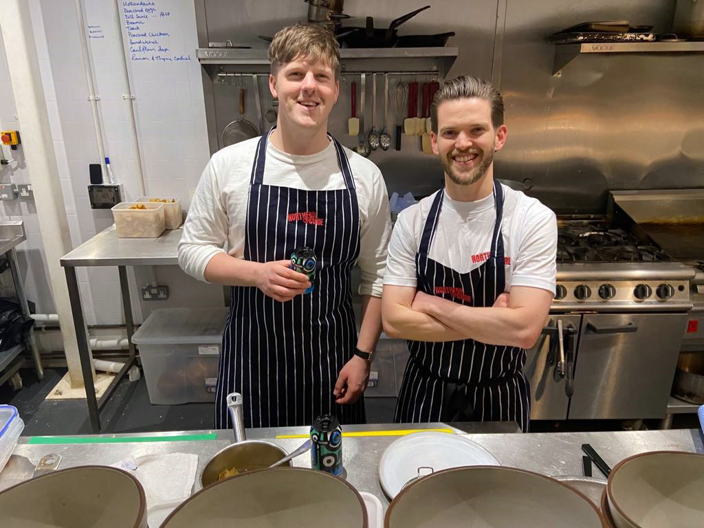 Alex McKay and Douglas Staton, owners of Northern Cure, in their kitchen