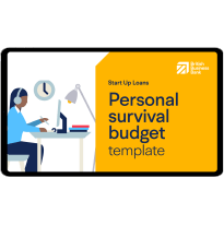 Personal survival budget template