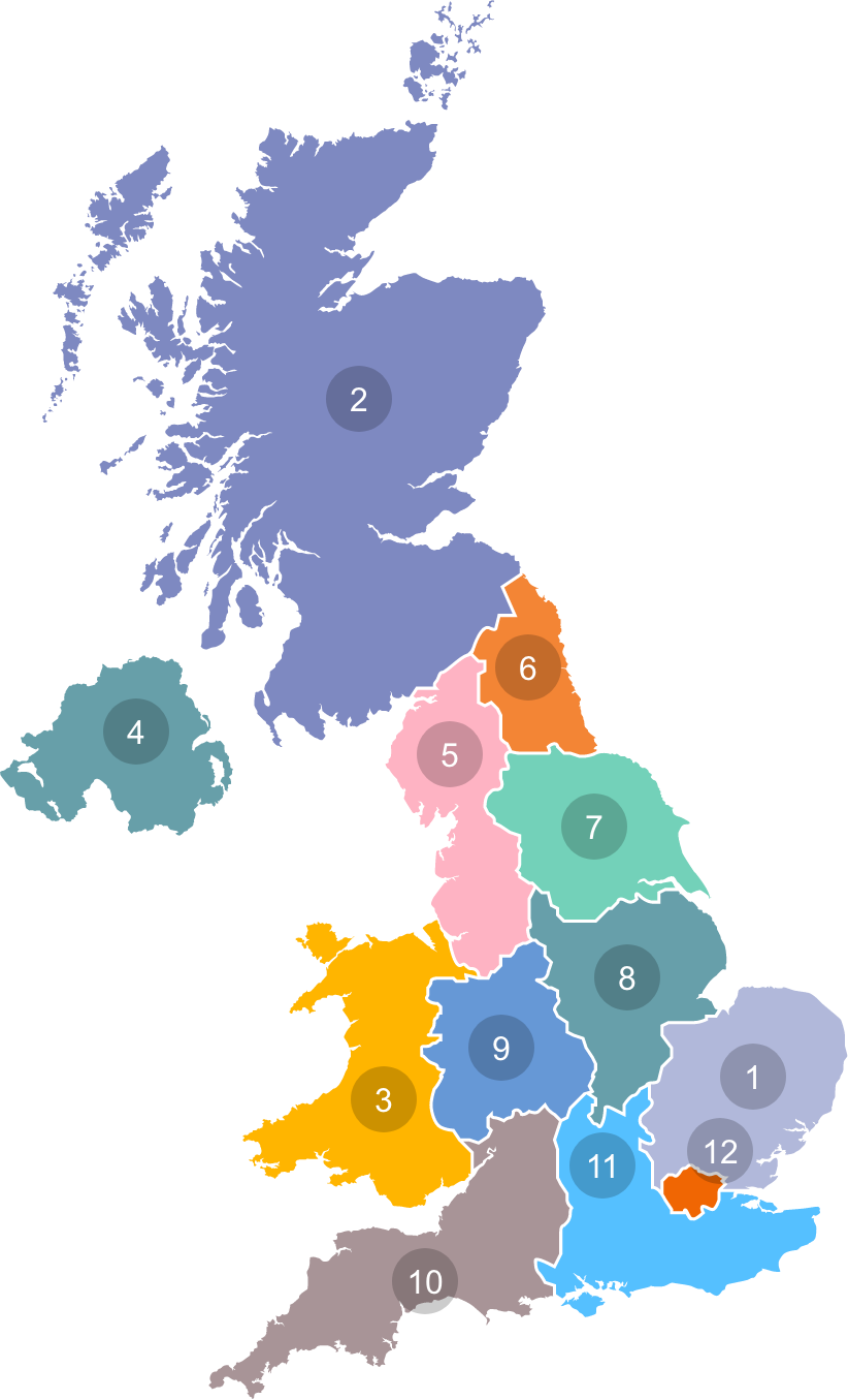 Map icon of the UK